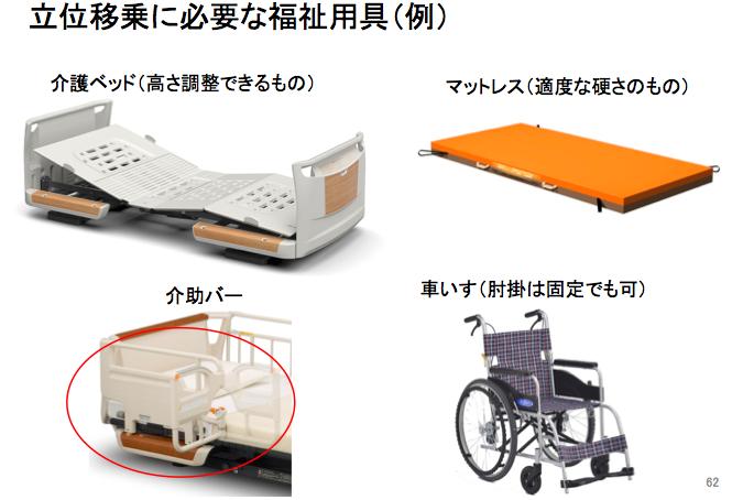 立位移乗に必要な福祉用具