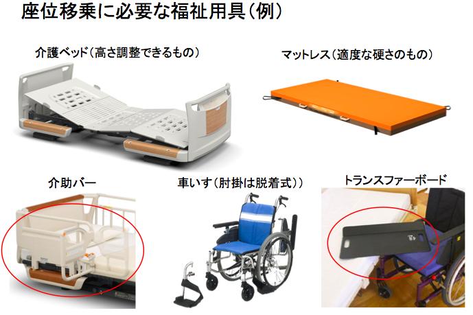 座位移乗に必要な福祉用具